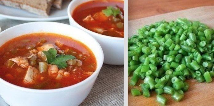 Томатный суп с курицей и зеленой фасолью «Томачелло»