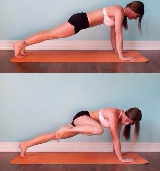 Талия + плоский живот!   Выполняйте упражнения одно за другим по 15 повторений