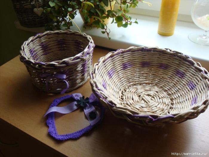 Плетение из газет. Идеи и мастер-класс на донышко плетенки (25) (700x525, 247Kb)