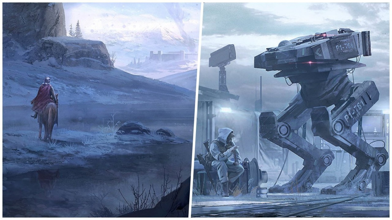 Миры прошлого и будущего в картинах главного художника Ubisoft