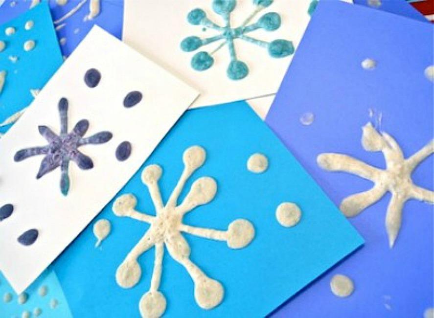 Поделки снежинку с детьми