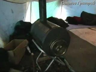 Самодельная печка для зимних походов