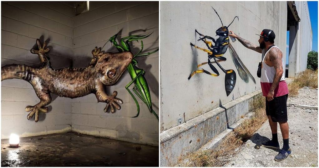 3D граффити — арт-искусство, сумевшее разорвать пространство