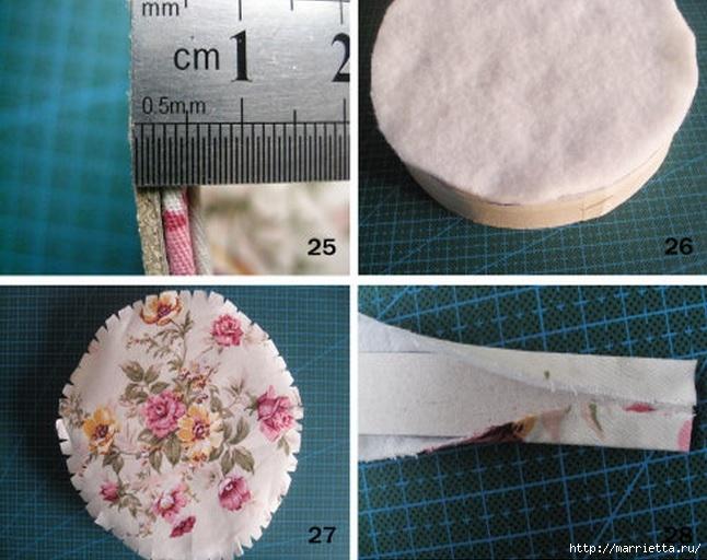 Как сделать шкатулки из ткани своими руками