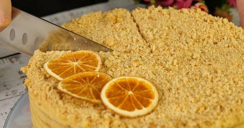 Постный торт с апельсиновым кремом