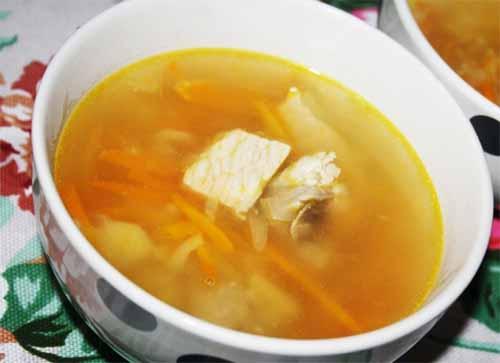 Простой суп со свининой