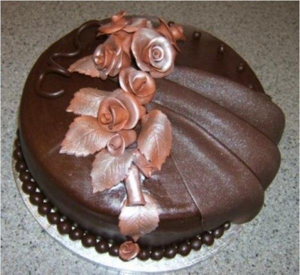 Шоколадная мастика из маршмелоу.