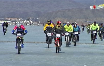 Сотни жителей Приморья приняли участие в ледовом велоралли