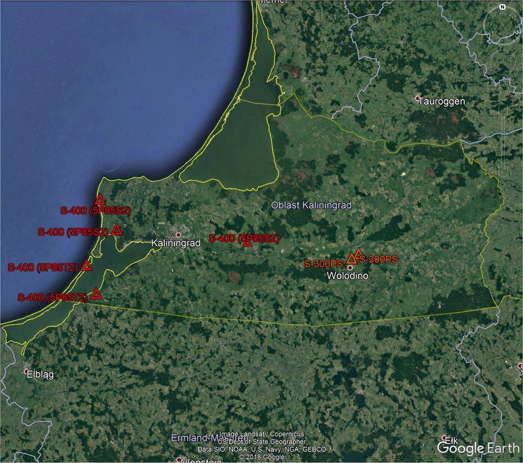 В Калининградской области развернуты уже шесть дивизионов зенитной ракетной системы С-400