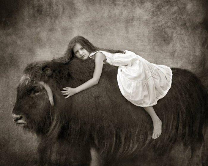 Душевно-трепетные портреты: люди и животные в одном кадре