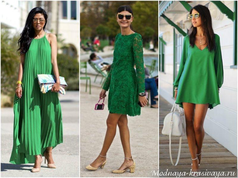 Брюнетки в зеленом