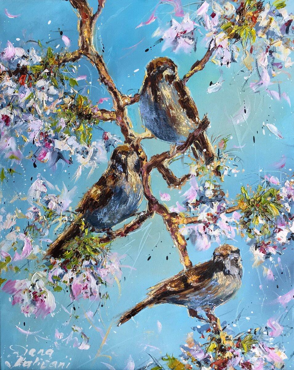 Птицы на картинах Дианы Маливани