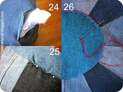 Пуфик из джинсов - просто возьми и сделай!