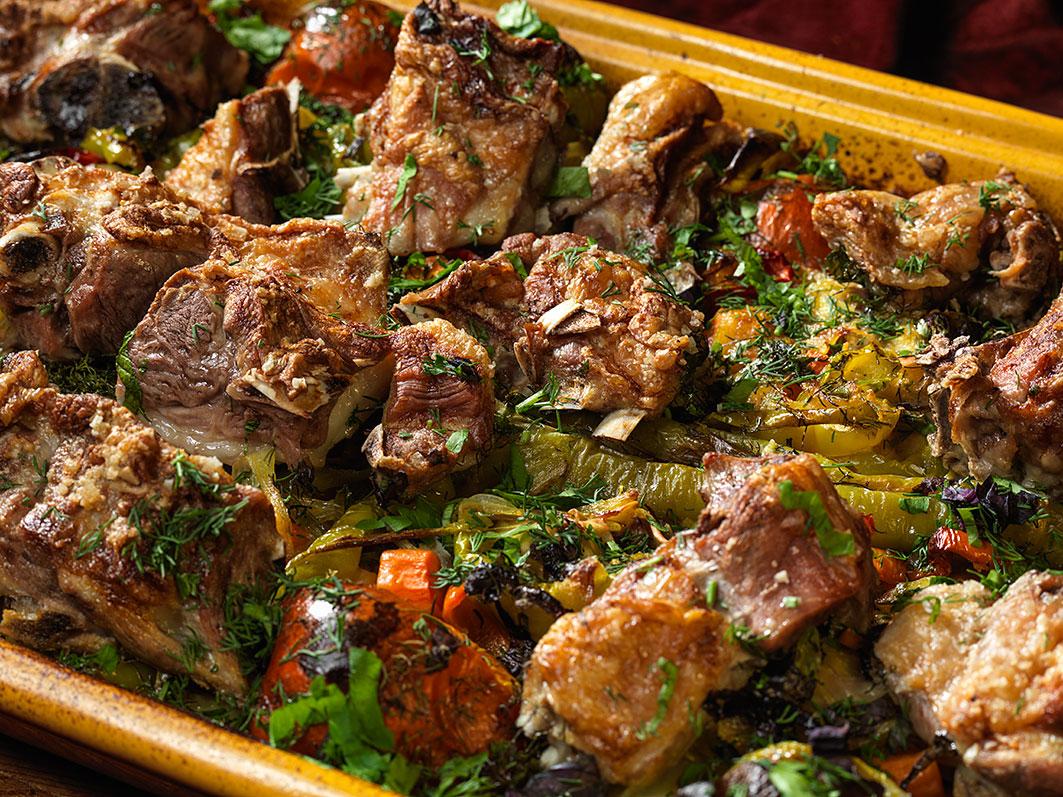 Азербайджанская буглама в печи и духовке