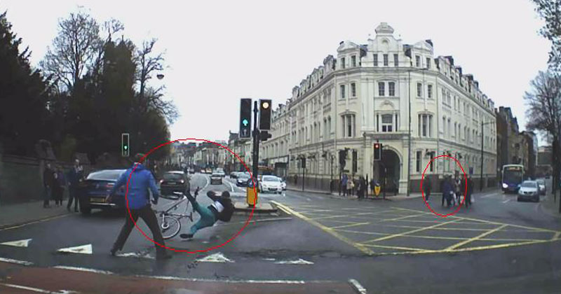 Человек на велосипеде ограбил прохожего. Погоня за карманником превратилась в захватывающее зрелище!