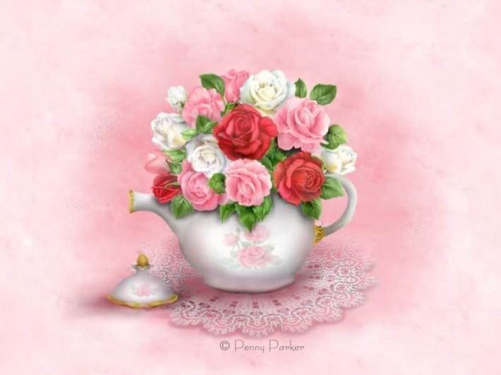 Нежные цветочные открытки от Penny Parker