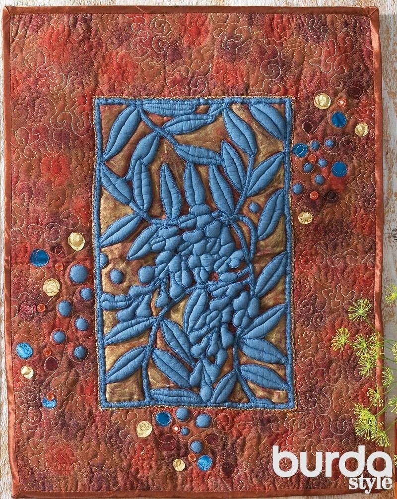 Панно «Цветущая глициния»: объемный пэчворк. Мастер-класс