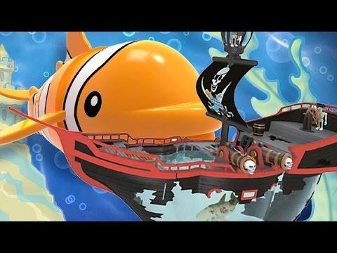 Видео про игрушки. Маша (Капуки Кануки), Марк и Адриан играют в пиратов! Корабль-призрак Море Чудес.