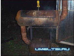 Коптильня из газового котла своими руками