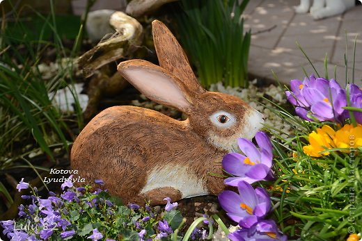 Скоро Пасха, во многих странах символом этого праздника является пасхальный заяц. Вот я и решила его сделать. . Фото 1