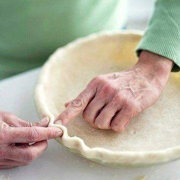 Как красиво оформить края выпечки?