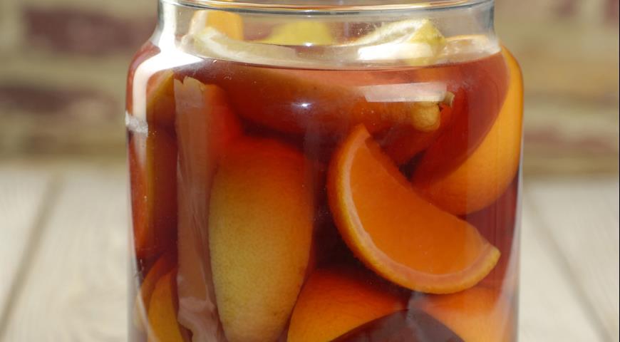 Апельсиновое вино с ванилью