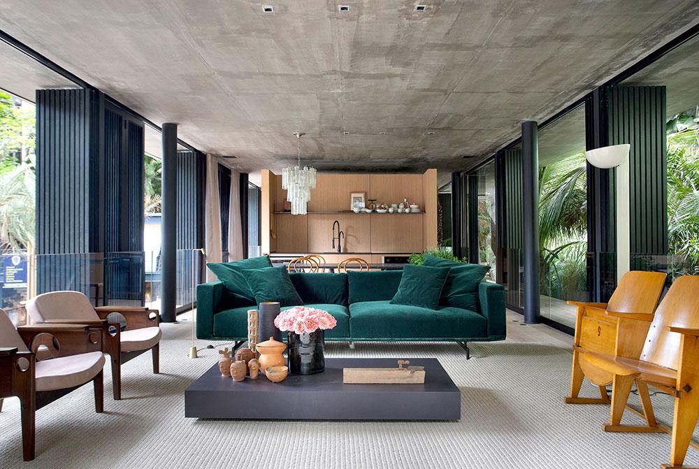 Джунгли зовут: дом Рио-де-Жанейро, окруженный растительностью