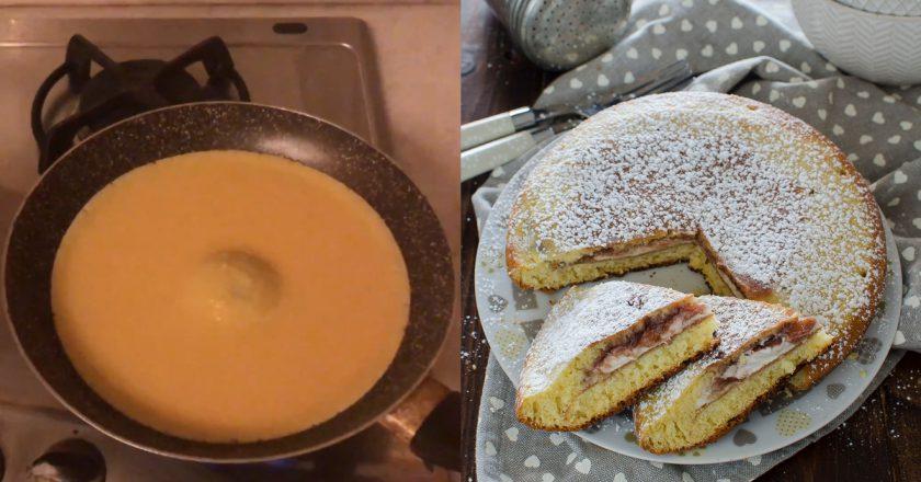 Большой пирог-панкейк