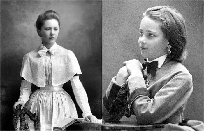 Благородные воспитанницы российских гимназий.