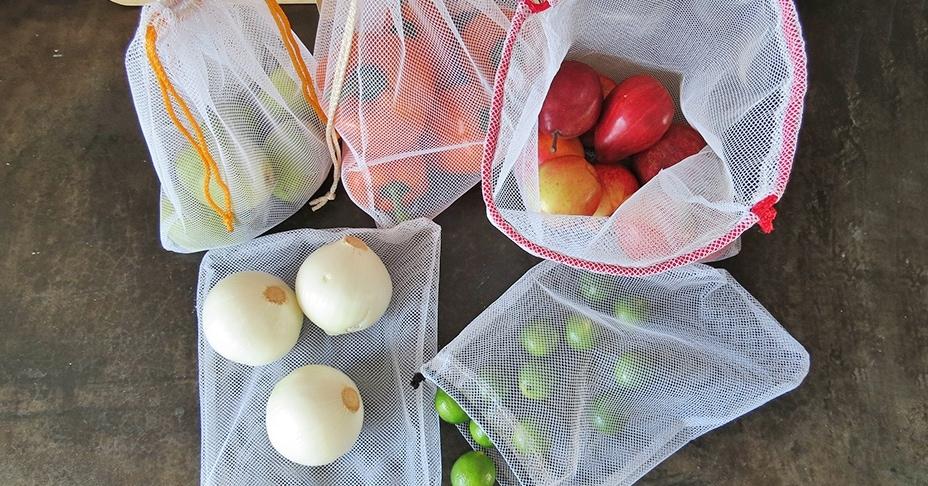 Многоразовые мешочки для фруктов и овощей своими руками
