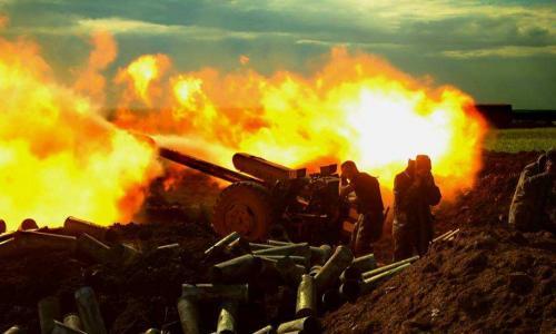 СРОЧНО: Мощнейший бой под Дебальцево. Позиции ВСУ ровняют с землей