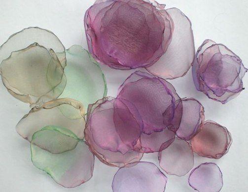 Своими руками сделать цветы из ткани органзы