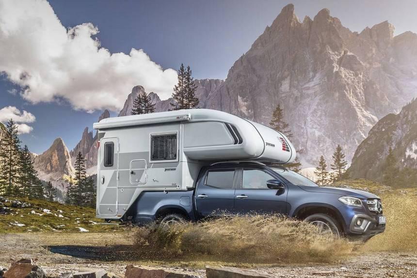 С душем и кухней: представлен кемпер на основе пикапа Mercedes X-класса