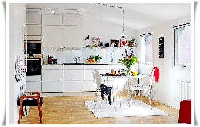 13 белых  кухонь:фотогалерея