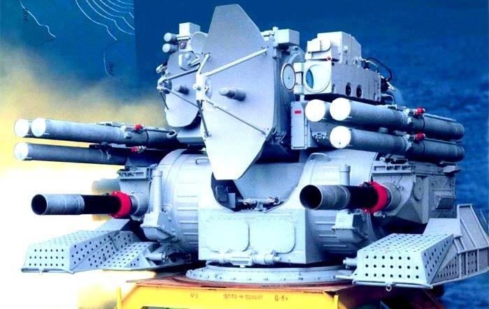 Корабельный зенитный ракетно-артиллерийский комплекс «Кортик». Инфографика