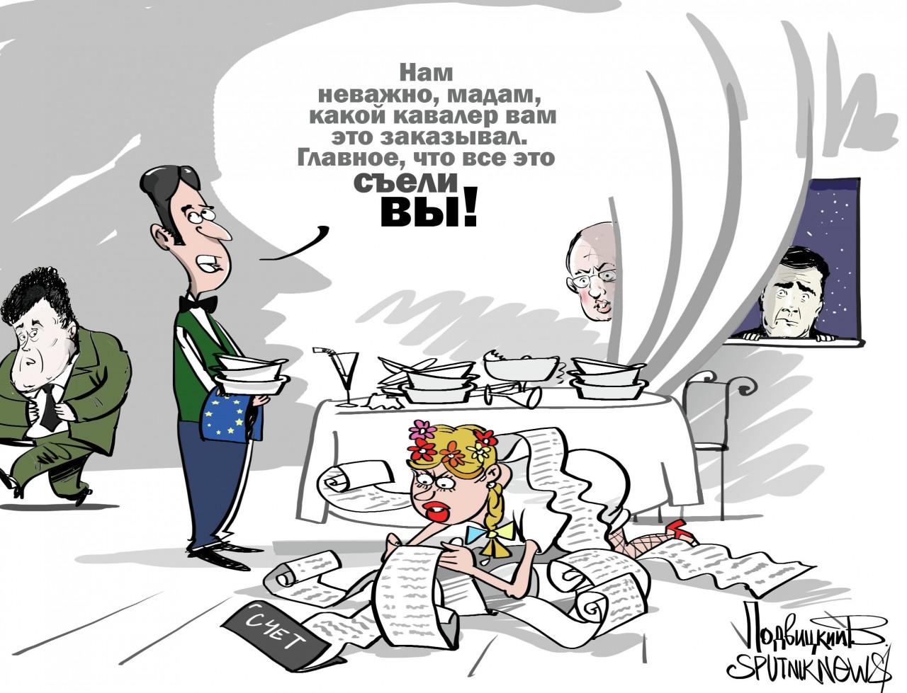 Украина: дайте нам в долг чтоб мы отдали долги..