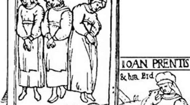 Анна Колдингс Ткачиху Колдингс обвиняли в том, что она специально вызывала шторм, чтобы сгубить корабль королевы Анны, путешествовавшей из Копенгагена в Шотландию. Каравелла и в самом деле чуть не затонула при сильнейшем шторме и была вынуждена остановиться в Норвегии. Анну, прозванную «Мать Дьявола», арестовали по обвинению мэра Кронборга, решившего выслужиться перед королем. На пытках Анна не только призналась во всем, но и назвала еще пять имен своих сообщниц — жену мэра в том числе. Ранним весенним утром всех девушек сожгли прямо у стен Кронборга.