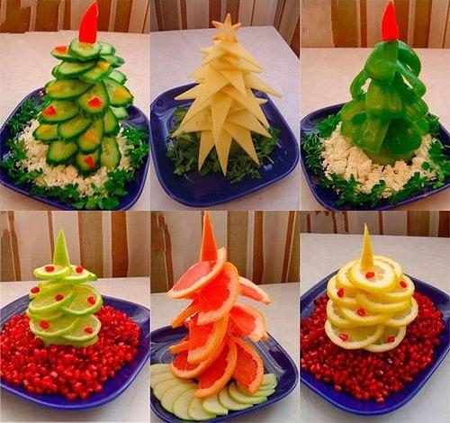 Делаем аппетитную новогоднюю елку на праздничный стол