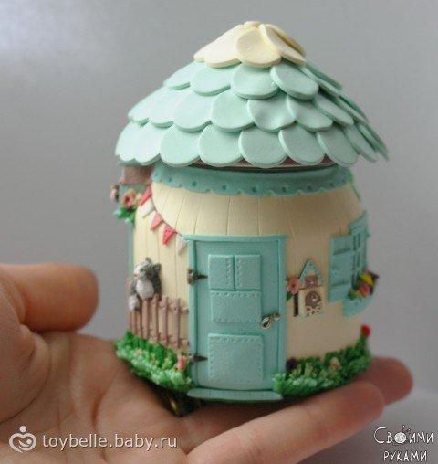 Декор баночек из детского пюре используя холодный фарфор или пластик