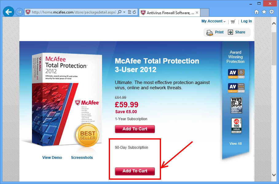 Mcafee Antivirus Trial for 90 Days