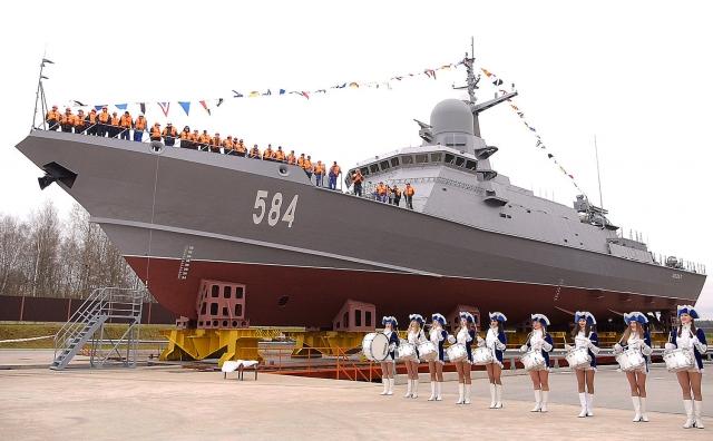 Ракетный корабль «Шквал», третий из проекта 22800 «Каракурт», спущен на воду.