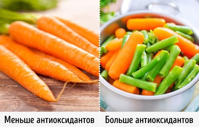 Свежие овощи полезнее приготовленных