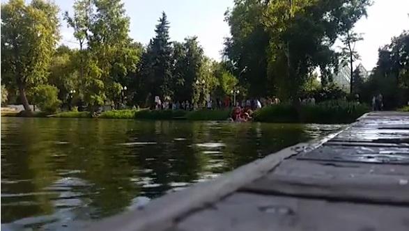 Гибель ветерана ВДВ в парке Горького попала на видео