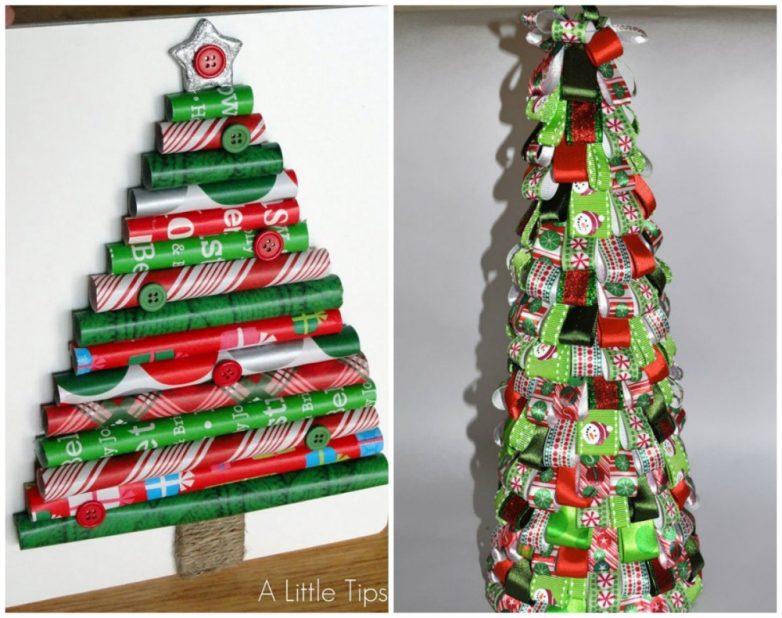 Новогодние ёлки, которые можно сделать в два счета