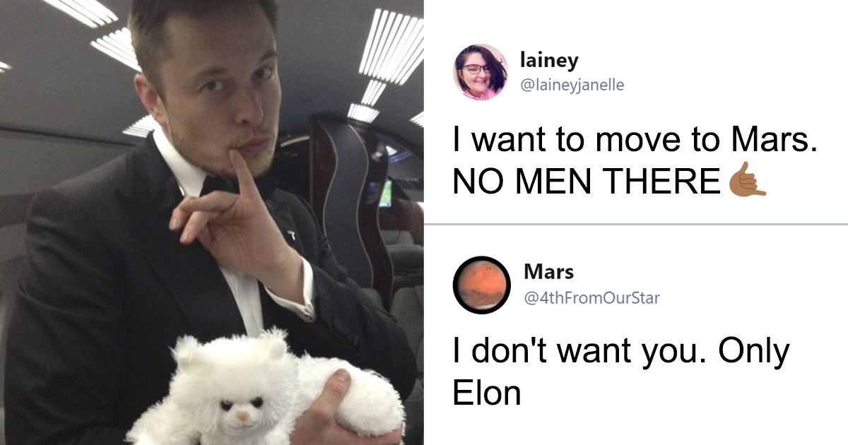 Elon Musk Flirts With Mars On Twitter And People Don't Know How To Feel About It