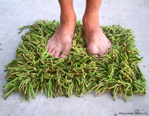 Клочок травы под ногами. КОВРИК КРЮЧКОМ (2) (620x483, 213Kb)