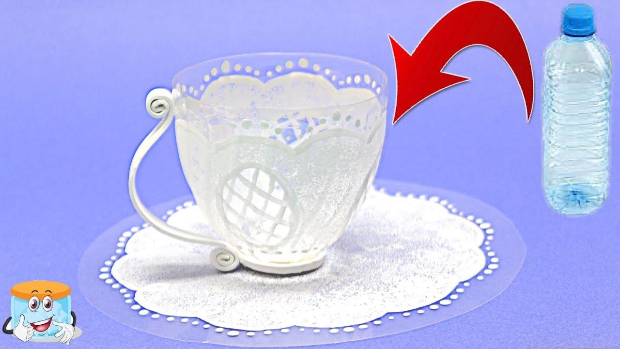 Как превратить пластиковую бутылку в красивую чашку