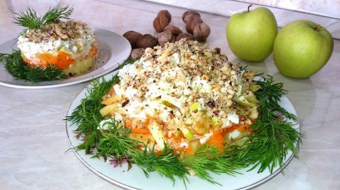 Рецепт салата легкого и вкусного с пошагово