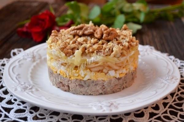 Слоеный праздничный салат «Принц»