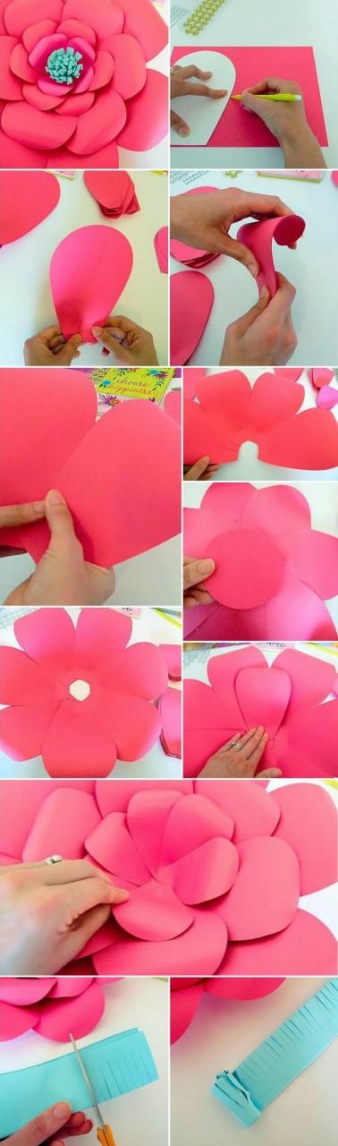 бумажные цветы как сделать